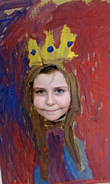 Tvoříme s dětmi  ☺: Legrační portréty......:)