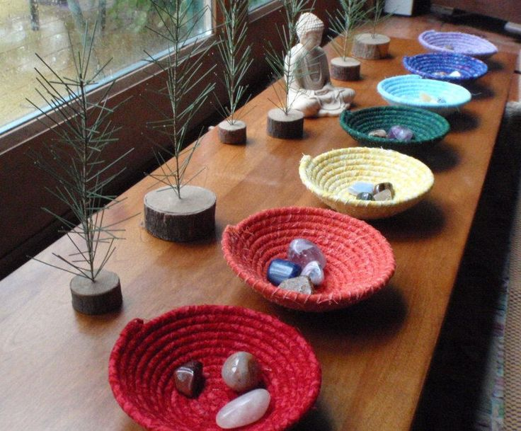 Chakra Bowls - Set of 7. via Etsy.