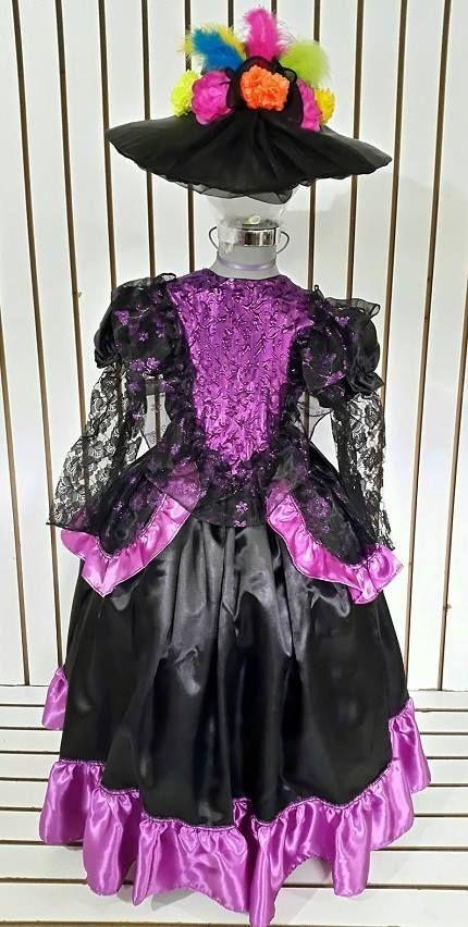 Disfraz Catrina Talla 14-16 Años Vestido Catrina Halloween - $ 500.00 en Mercado Libre