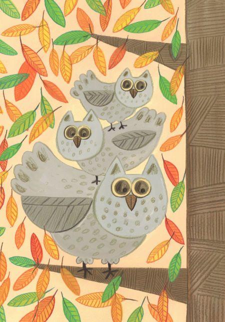 Kay Widdowson - Autumn Owls