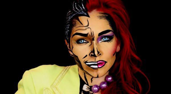 Makeup Artist Transforms Herself Into A Cartoon Half-Man Half-Woman - DesignTAXI.com