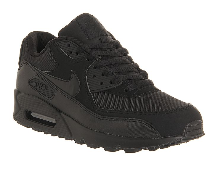 Buy Black Mono Nike Air Max 90 from OFFICE.co.uk.