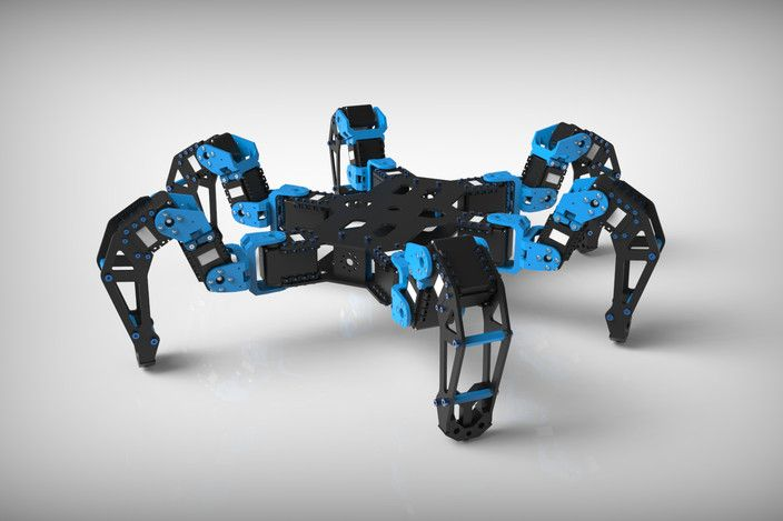 Phantomx hexapod mark ii step iges solidworks 3d Cad models