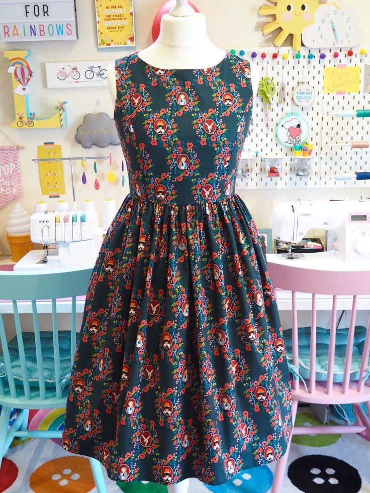 Made to Order Alice In Wonderland Green Dress - Ladies Handmade Dress