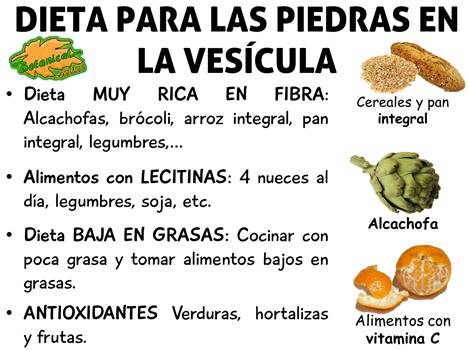 dieta y alimentacion para eliminar piedras o calculos vesicula biliar, alimentos