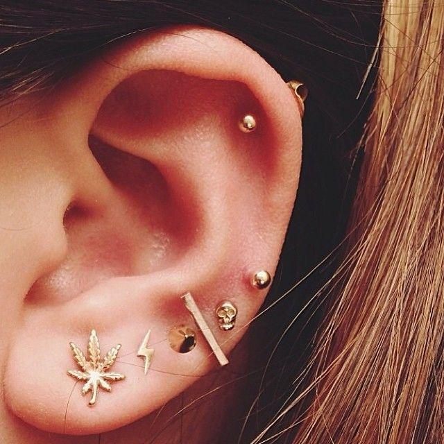 Assez Les 25 meilleures idées de la catégorie Piercings d'oreilles sur  LN54