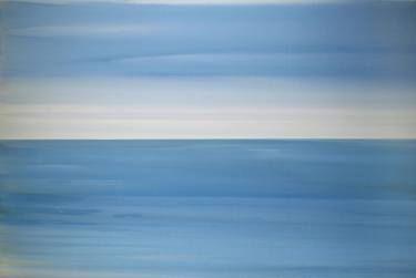 """Saatchi Art Artist Jitka Anlaufova; Painting, """"Sea Landscape"""" #art"""