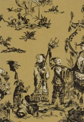 Oriental Black Toile Wallpaper For The Home Toile