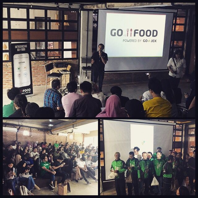 @gojekindonesia #pressconference for #gofood @cnclvco... Big demonstration of where we stand... Soon launching #bandung and #surabaya... And a nice demo of GO-FOOD from the #app with lots of success orders today from restaurants all over Jakarta... Big couple days for #gojek with Best Local App Award just yesterday from @selularID... Always moving up! #GOJEK4LIFE #conclave #mobile #aplikasi