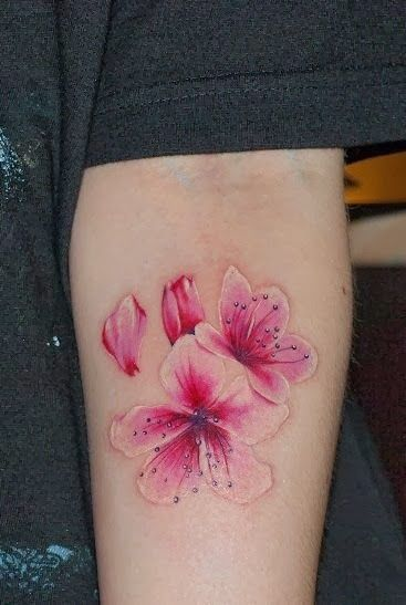 cherry blossom tattoo, possible cover up for the bad tattoo on my ...