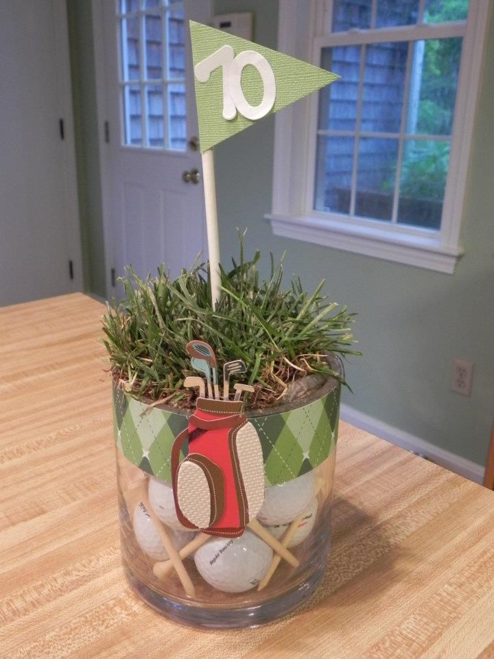 17 best ideas about golf table decorations on pinterest for Golf centerpiece ideas