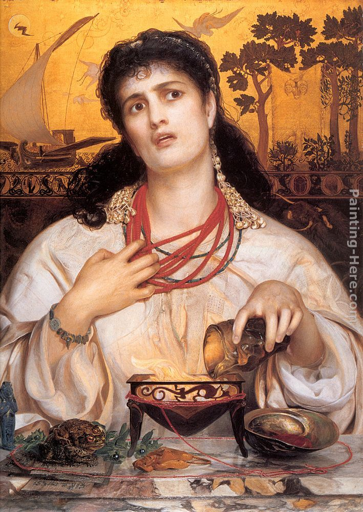 Medea: 1868 by Anthony Frederick Sandys (Birmingham Museums and Art Gallery) - Pre-Raphaelite
