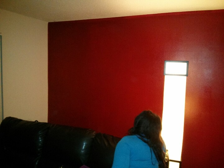 Red Delicious Accent Wall Selfie Mirror Painting