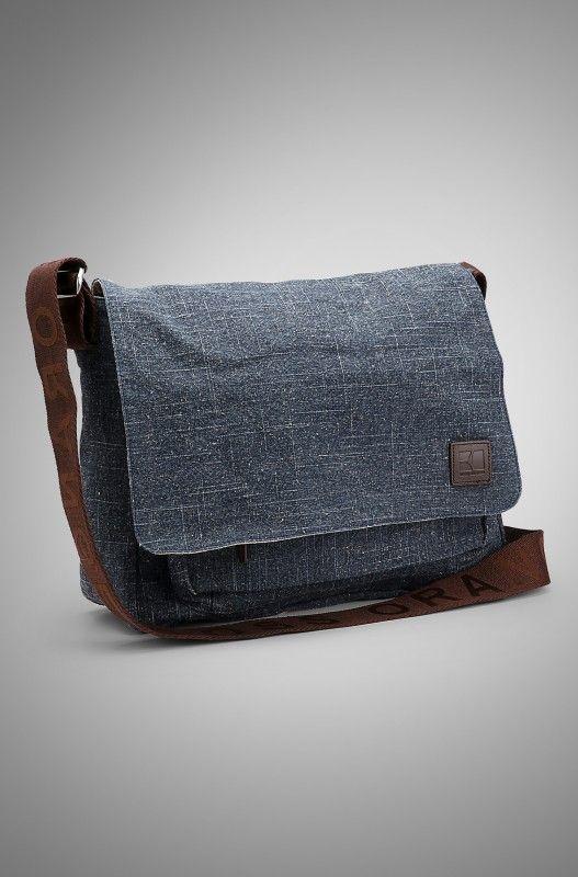 BOSS Orange Textile Leather Flap Messenger Bag 1 527x800