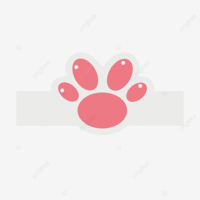 Cute Cat Paw Print Icon Horizontal Bar Vector Material Paw Clipart Lovely Cat Paw Print Png And Vector With Transparent Background For Free Download Paw Painting Cat Paw Print Paw Print
