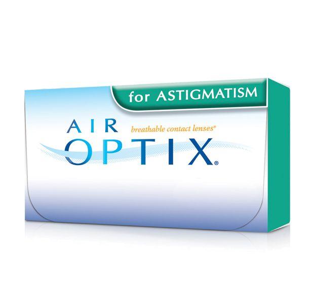 AIR OPTIX AQUA for ASTIGMATISM 3pack - 29.90€ - Μηνιαίοι μαλακοί φακοί επαφής αστιγματικοί σιλικόνης υδρογέλης της Alcon-Ciba Vision. Επιτρέπουν μέχρι και 5 φορές περισσότερο οξυγόνο διαμέσου του φακού σε σχέση με τους παραδοσιακούς μαλακούς φακούς και έτσι μπορείτε να τους φοράτε με άνεση από το πρωί μέχρι το βράδυ. Είναι κατασκευασμένοι χρησιμοποιώντας τη μοναδική τεχνολογία TriComfort που προσφέρει υγιεινή και φυσική αίσθηση, άνεση όλη μέρα και καθαρή όραση.
