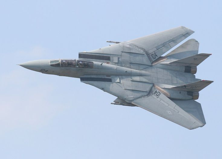 F-14 Tomcat. A variable swept-wing carrier based fighter. In service from 1974 to 2006.