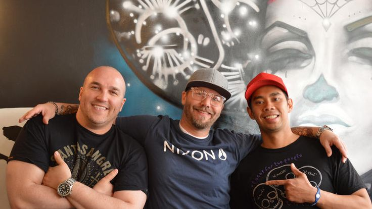 L-R: Daniel Braun, Chris Sills and Edgar Gutierrez of Tres Carnales in Edmonton, AB.