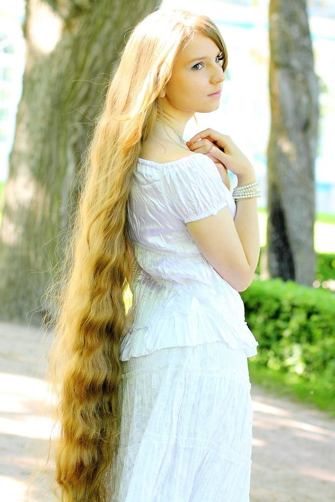 7. Beautiful  woman with very long and soft  hair