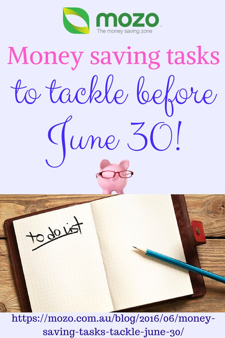 Money saving tips and ideas. Take on this June money challenge!  1. Shop at the end of financial year sales.  2. Protect your wheels.  3. Give your home loan a health check. 4. Jump on the Junk Free June bandwagon.  5. Get your hands on some health insurance. 6. Price check your heating bill.  7. Make a retirement contribution. 8. Set yourself a Financial New Year's Resolution. Read the article here! https://mozo.com.au/blog/2016/06/money-saving-tasks-tackle-june-30/