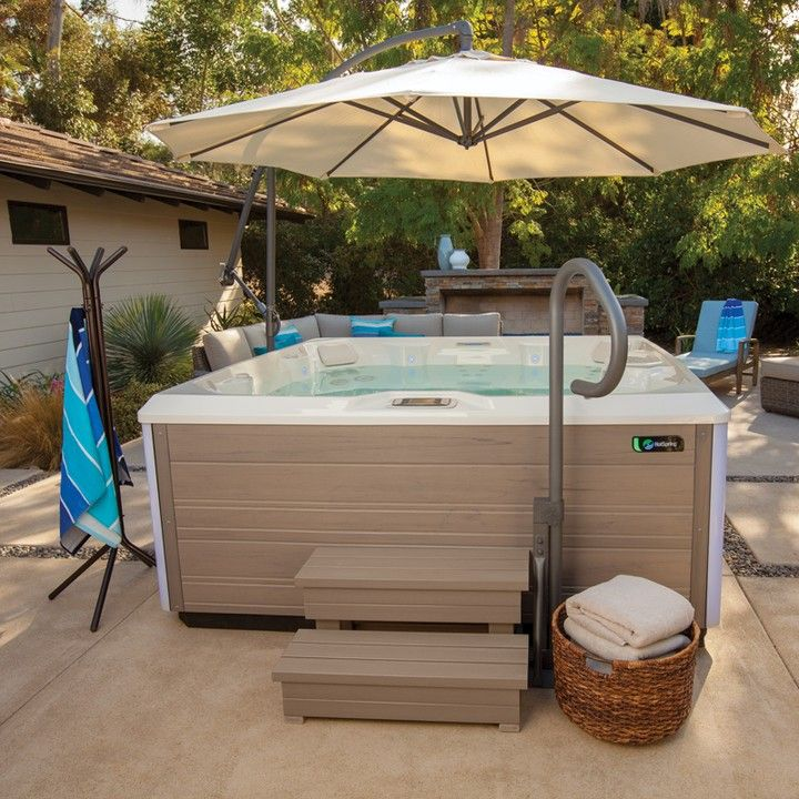 You Got The Hottub But What About All Of The Awesome Accessories Make Heading Out To The Backyard Spa A Truly L Hot Tub Accessories Hot Tub Hot Tub Steps