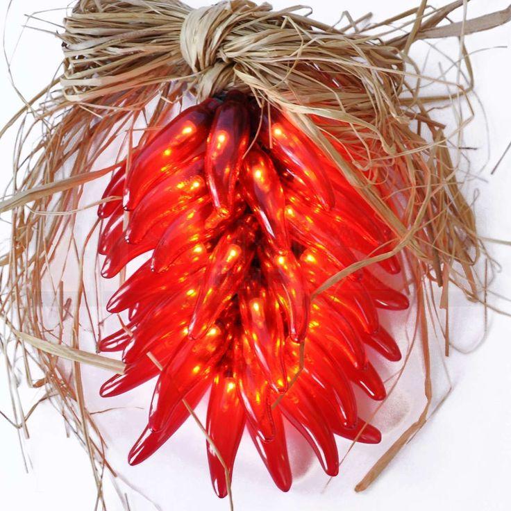 Chili Pepper Light Ristra Red