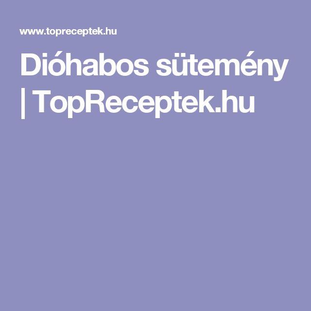 Dióhabos sütemény | TopReceptek.hu