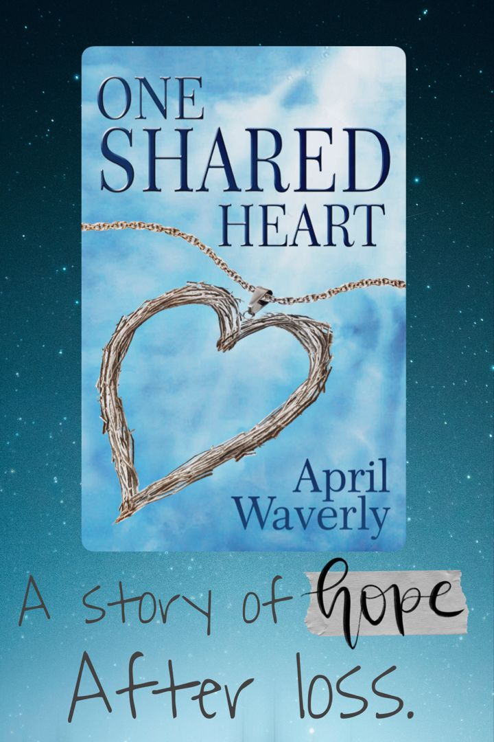 New Book Release - One Shared Heart by April Waverly Women's Fiction - Mother Daughter - Family - Coming of Age A book that creates hope after tremendous loss and highlights the strength of the bond between a mother and her daughter. Celebrating in this connection that is able to overcome any odds. #newbook #fictionalbook #womensfiction #bookrecommendation #booklover #booklist #tbr #tbrlist #bookreview #bookworm #newbookrelease #debutauthor