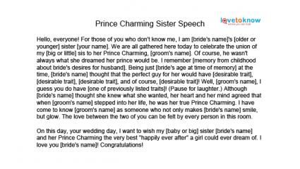 Best Funny Wedding Speeches Sister Of The Groom Images