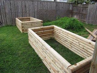 Beautiful COM: Planter Boxes For A Raised Vegetable Garden