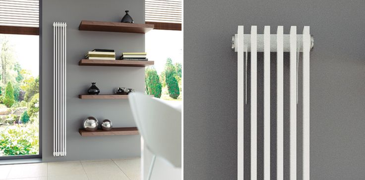 Ultraheat Tilbrook - one of the slimmest vertical radiators on the market with sizes starting from only 95mm wide, and space saving underneath valve connections as standard. Its bladed tube design also offers great heat output.