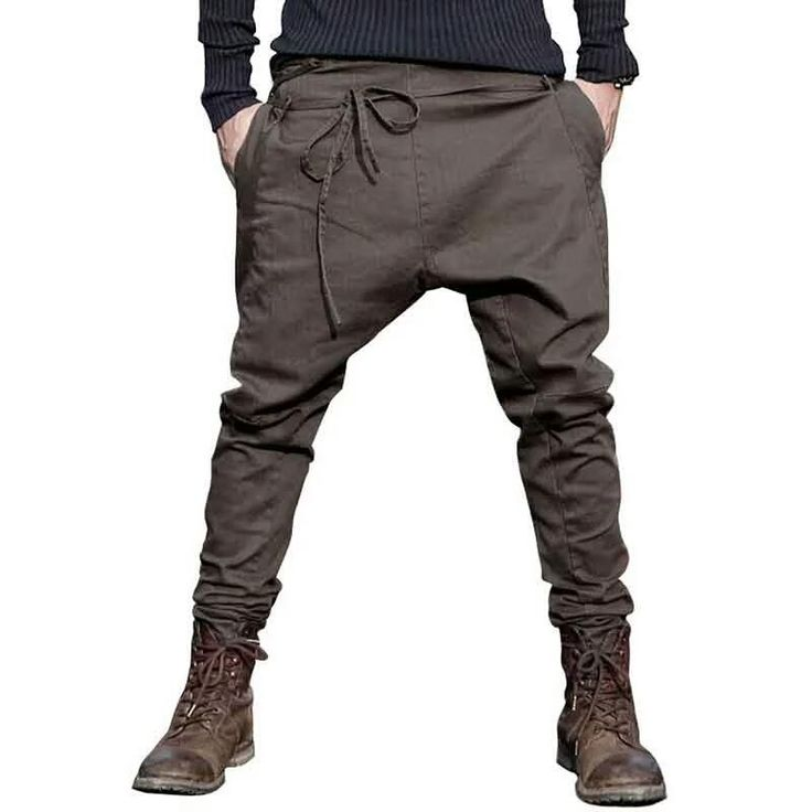 men Harem Pants brand 2016 Casual Sagging pants men Trousers low Crotch Pant Men Joggers Feet pants hanging crotch