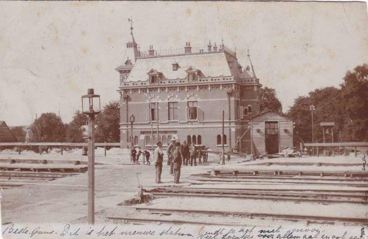 Stationsstraat Hengelo (jaartal: 1900 tot 1910) - Foto's SERC