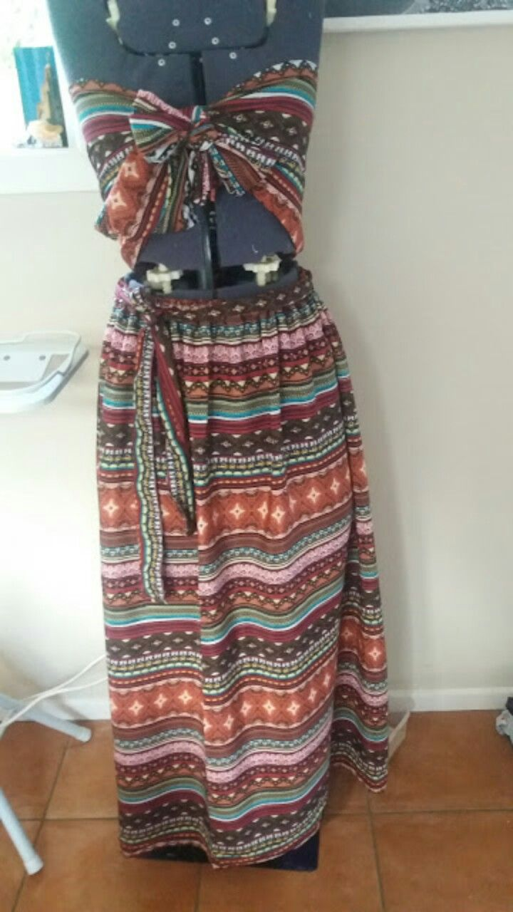 Easy to make summer outfit!  Loving the tribal print.
