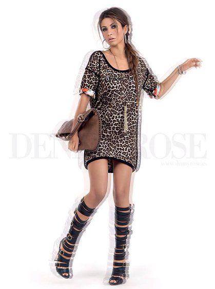 Denny Rose Vestido leopardo primavera 2014