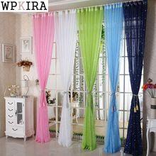Blanco/Color de Rosa/Verde/de la Estrella Azul de Tul Niños Dormitorio Panel De Partición Salón Cortina de La Ventana de Tul Aire de Tul Cortinas 234 & 20(China (Mainland))