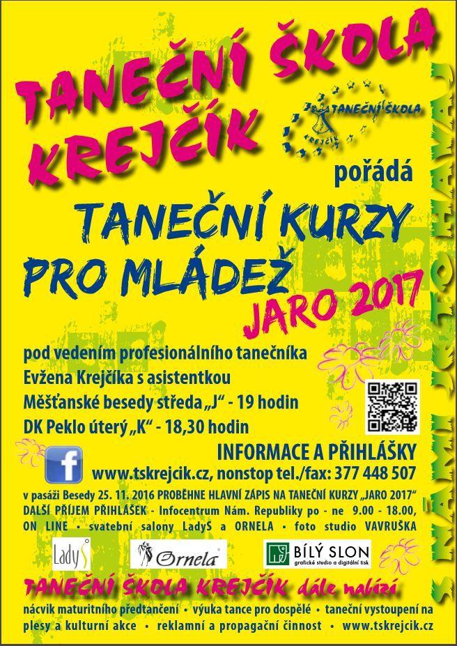 Taneční kurz JARO 2017 pro mládež