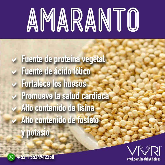 Beneficios del amaranto  #amaranto #healthyfood #healthyChoices vivri.com/healthyChoices