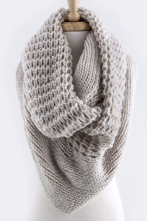 Ivory Oversized Knit Infinity Scarf – Sweater Weather Co.