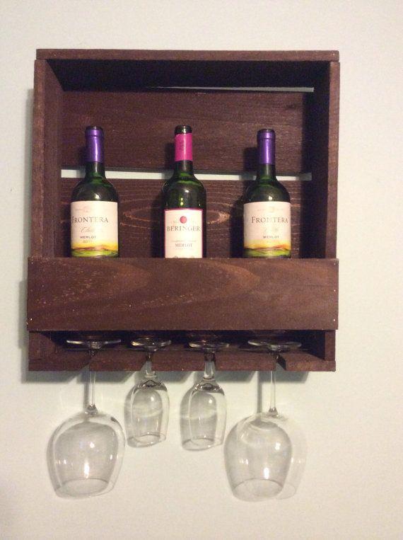 Vintage Homemade Wine Rack with Pallet Wood by OKVintageWood, $30.00