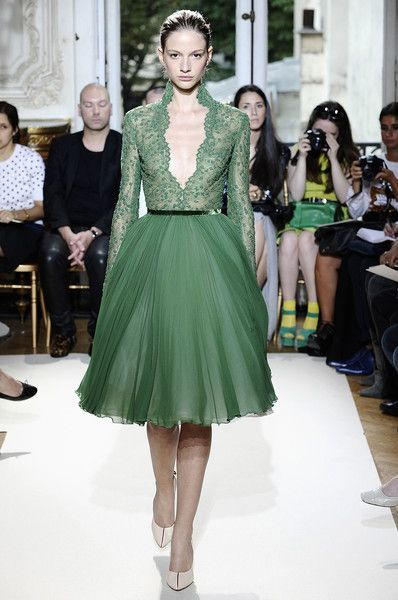 Georges Hobeika Fall Couture 2012: Full Skirts, Green Lace, Bridesmaid Dresses, Fashion Week, George Hobeika, Lace Dresses, Couture Fashion, Haute Couture, Green Dresses