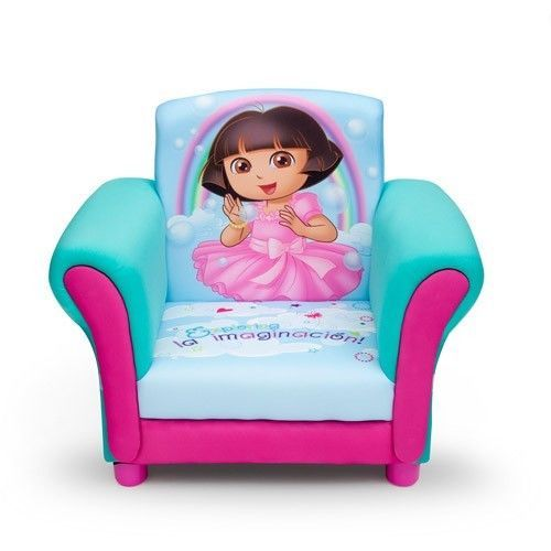 Dora the Explorer Toddler Armchair Nickelodeon Girl Playroom Upholstered Chair #Nickelodeon