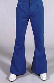 0 Pantaloni Hippy 70 blu a zampa elefante