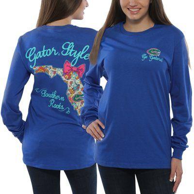 Florida gators women 39 s bright bow long sleeve t shirt for Florida gators the swamp shirt