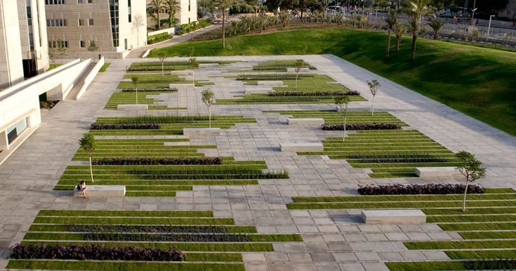 University Square on located in the western part of the Ben-Gurion University campus in the city of Beer-Sheva, Israel by Chyutin Architects