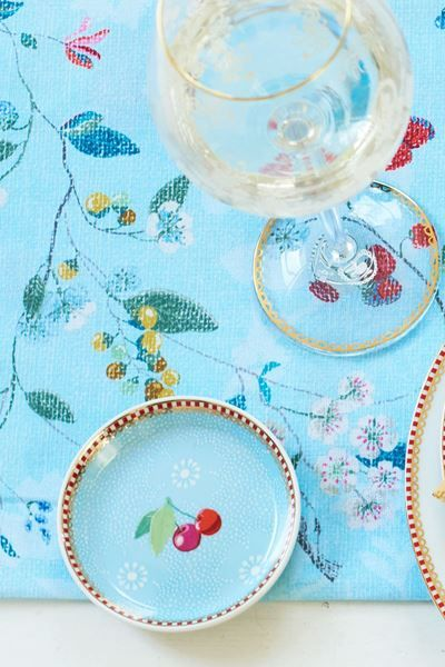 Show details for Floral Tea Tip Dotted Flower Blue