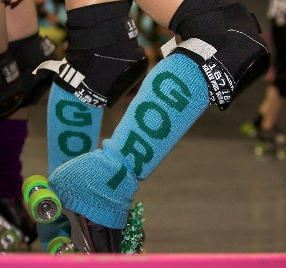 ooh personalized leg warmers...because a derby girl can never have too many pieces of clothing with our name on them <3