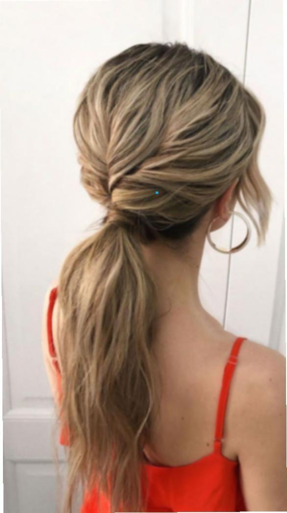 16 Peinado cola baja