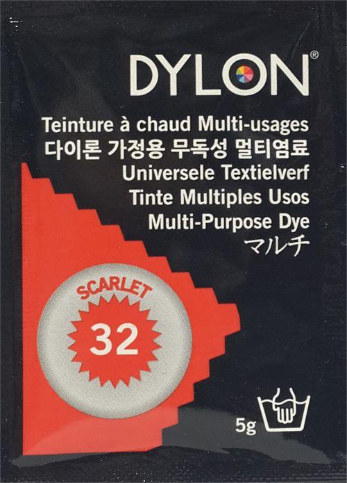 DYLON MULTI PURPOSE DYE 5 g SCARLET (32)
