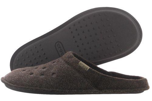 Crocs Classic Slipper 203600-23B Espresso Walnut Soft Textile Warm Slip On Men